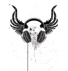 Headphone emblem vector