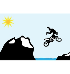 Jumping motorbike vector