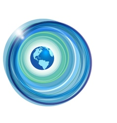Globe on abstract background vector