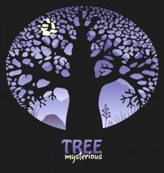 Mysterious tree vector