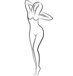 Nude woman vector