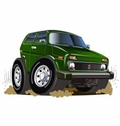 Cartoon jeep vector