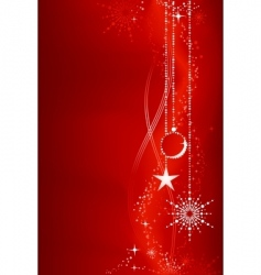 Red christmas background with ornaments vector