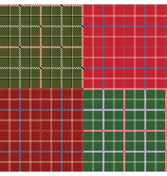 Four different seamless checkered patterns vector