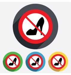 No womens shoe sign icon high heels shoe vector