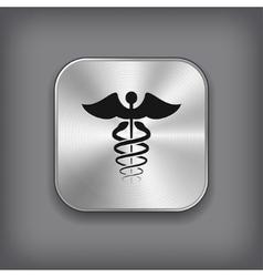 Caduceus medical symbol icon vector