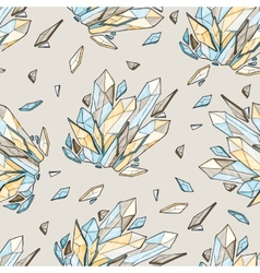 Seamless background of diamonds vector