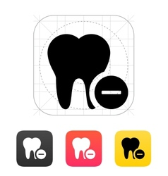Remove tooth icon vector