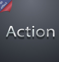 Action icon symbol 3d style trendy modern design vector