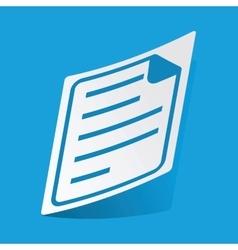 Document sticker vector