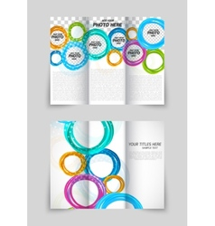 Trifold circles colorful brochure vector