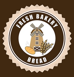 Mill bakery design vector