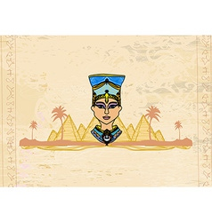 Old paper with egyptian queen vector