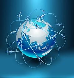 Transportation earth - eurasia vector