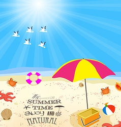 Summer time enjoy and natural vector