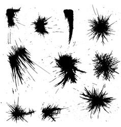 Ink drawn shapes vector
