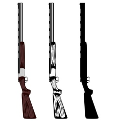 Huntings rifle vector