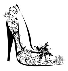 Stylised high heel vector
