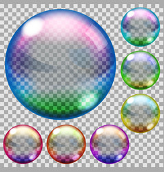 Colored soap bubbles vector