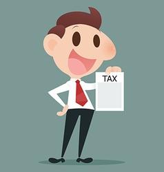 Tax document vector