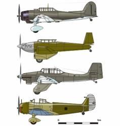 Dive bombers 1930s vector