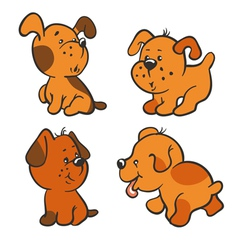 Puppies vector
