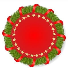 Christmas round vector