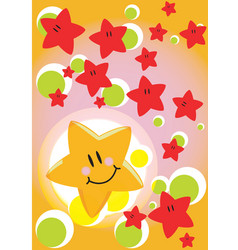 Greeting card star vector