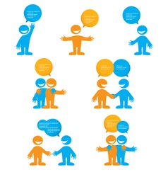 Dialogue people vector