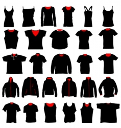 Shirts collection vector