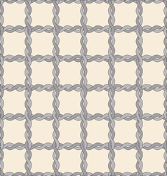 Seamless twisted rope pattern vector