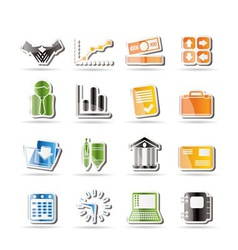 Simple business and office icons vector