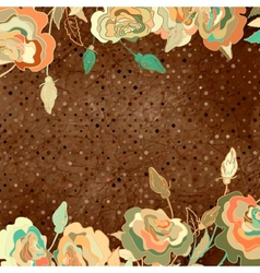 Vintage floral rose background vector