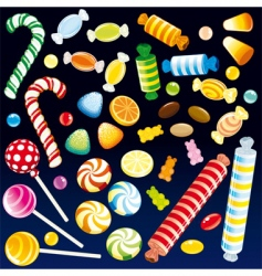 Sweet candies vector