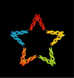 Colorful celtic star- tattoo or decoration vector