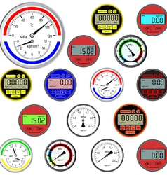 Gauges and dials vector