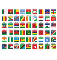 Icons with african flags vector