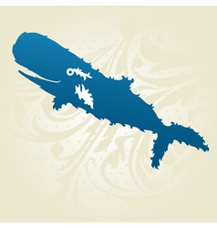 Decorative whale vector