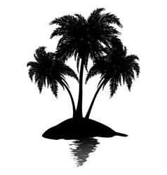 Small island silhouette vector