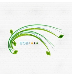 Green eco nature minimal floral concept vector