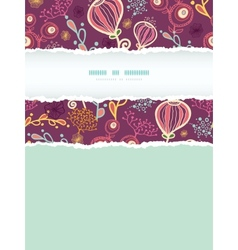 Underwater plants vertical torn frame seamless vector
