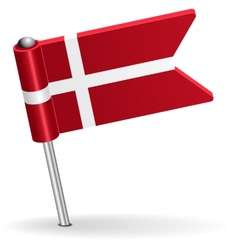 Danish pin icon flag vector