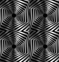 Abstract striped warped hexagonal optical vector