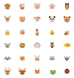 Animals icon set part one vector