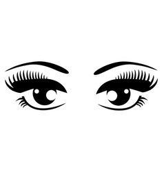 Black eyes vector