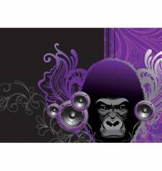 Audio gorilla vector