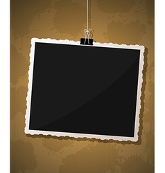 Photo frame design vector