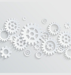 3d gears and cogs background vector