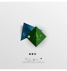 Modern abstract geometric info banner vector