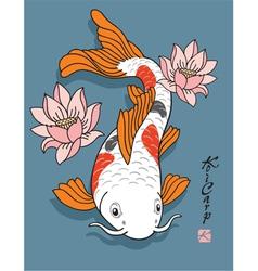 Oriental fish - koi carp vector
